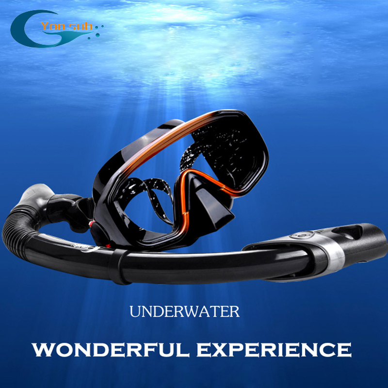 Silicone Adult Diving Snorkelling Mask Anti-fog Watersports Equipment For Diving Swimming Underwater Hunting YM138