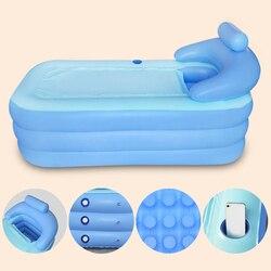 160*84*64 cm de gran tamaño interior al aire libre bañera inflable plegable PVC bañera para adultos con bomba de aire para el hogar bañera inflable