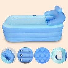 160*84 * см 64 см Большой размер Крытый Открытый Складная надувная ванна ПВХ для взрослых ванна с воздушным насосом Бытовая надувная Ванна