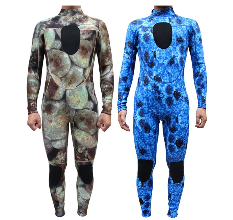 2015 Mergulho 3mm Camouflage Spearfishing Diving Suit Men Wetsuits With Long Sleeve Swimwear Scuba One Piece Swimsuit slinx two piece men camouflage wet suit swimwear with headgear 5mm neoprene camo scuba diving suit for fishermen spearfishing
