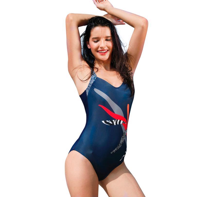 snowshine3 YLI Womens Piece Of Swimsuit Print Bikini Swimwear Beachwear Bathing Suit