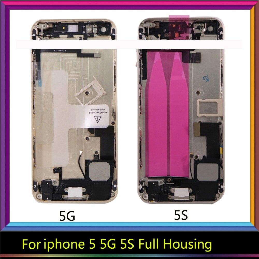 Für iPhone 5 5g 5 s SE körper Voller HousinMiddle Rahmen Lünette Chassis Zurück Gehäuse Batterie Tür Hintere Abdeckung körper mit Flex Kabel imei