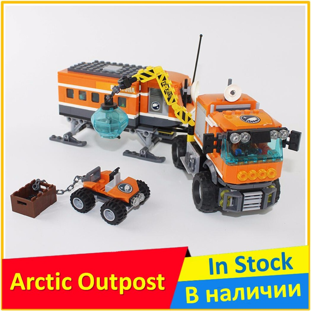Arctic Outpost 60035 Building Blocks Model Educational Toys For Children BELA 10440 Compatible City Figure Set zxs sucker toys educational oogi figure 2pcs set bule