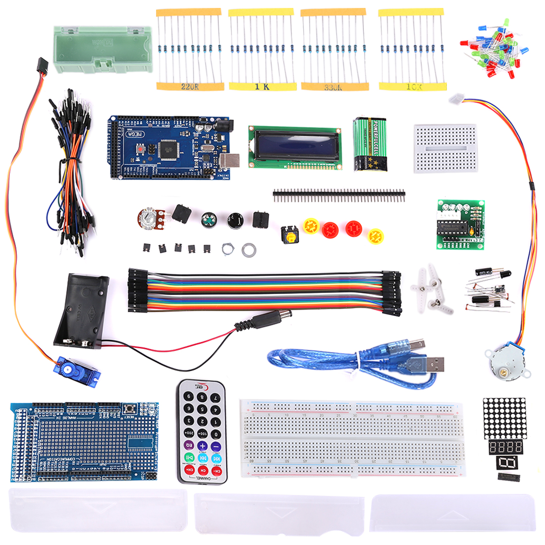MODIKER Diy Kit For Mega2560 Starter Learning Basic Kit For Arduino Beginner Programmable Toys
