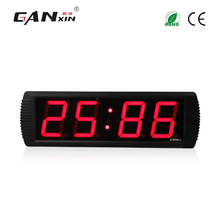 [Ganxin]4 Inches 4 Digits New Design Large Digital Led Alarm Clock Led Wall Clock Free shipping