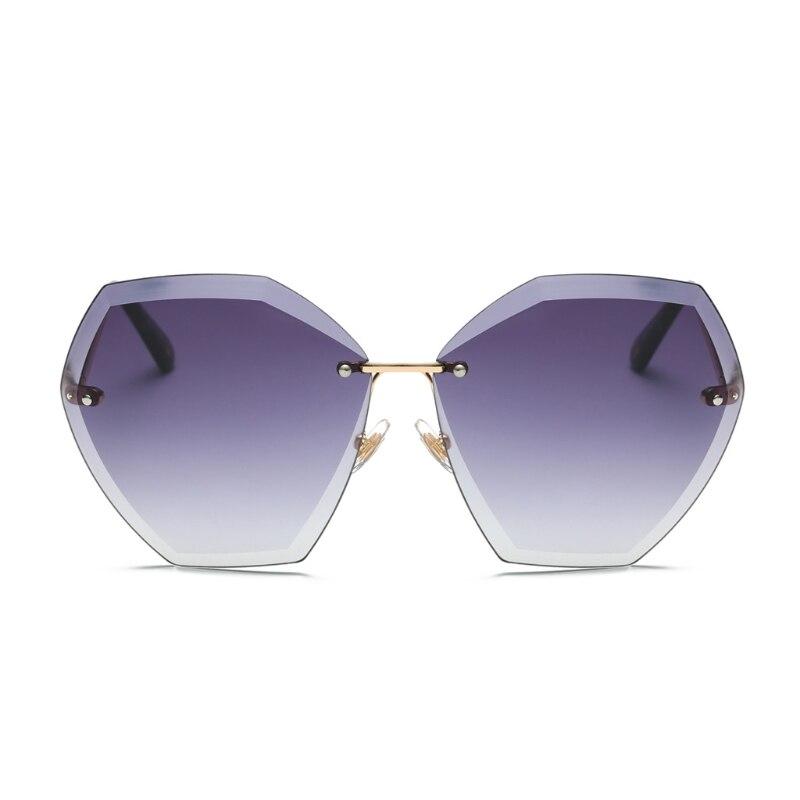Sunglasses For Women Glasses Rimless Crystal Cut Lenses Sun Glasses Male Mirror Sunglasses Men Glasses Female Gradient Eyewear çerçevesiz güneş gözlük modelleri bayan