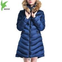 Women Winter Jacket Coats Down cotton Parkas Hooded Fur collar Cotton-padded Jackets Plus size Thick Warm Outerwear OKXGNZ A1115