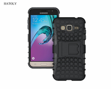 HATOLY For Samsung Galaxy J3 Case Heavy Duty Armor Shockproof Hybrid Rubber Silicone Phone Cover For Samsung Galaxy J3 J320 (