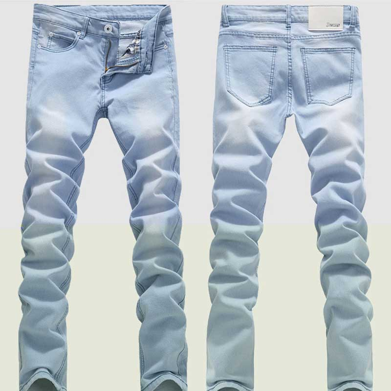 Retail Men's spring and summer style jeans brand denim jeans,Men's jeans pants high quality 2017 New fashion leisure casual юбка weekend max mara weekend max mara we017ewtmn96