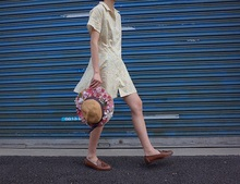 French style Girls Romantic vintage Flowers Shirt dress summer beach female  teenage girl
