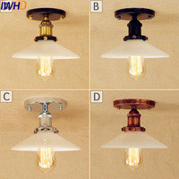 IWHD Plafonnier Vintage LED ceiling Light Fixtures Retro Edison Living Room Lights Loft Industrial Ceiling Lamp Lampara Techo