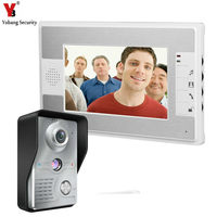 7 Inch Wired Video Door Entry System Color LCD Screen Home Security Camera Video Door Intercoms