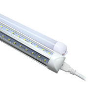 V 모양의 통합형 T8 튜브 라이트 4피트 6피트 8피트 형광 램프 SMD3528 AC85-265V LED 전구 실내 조명 무료 페덱