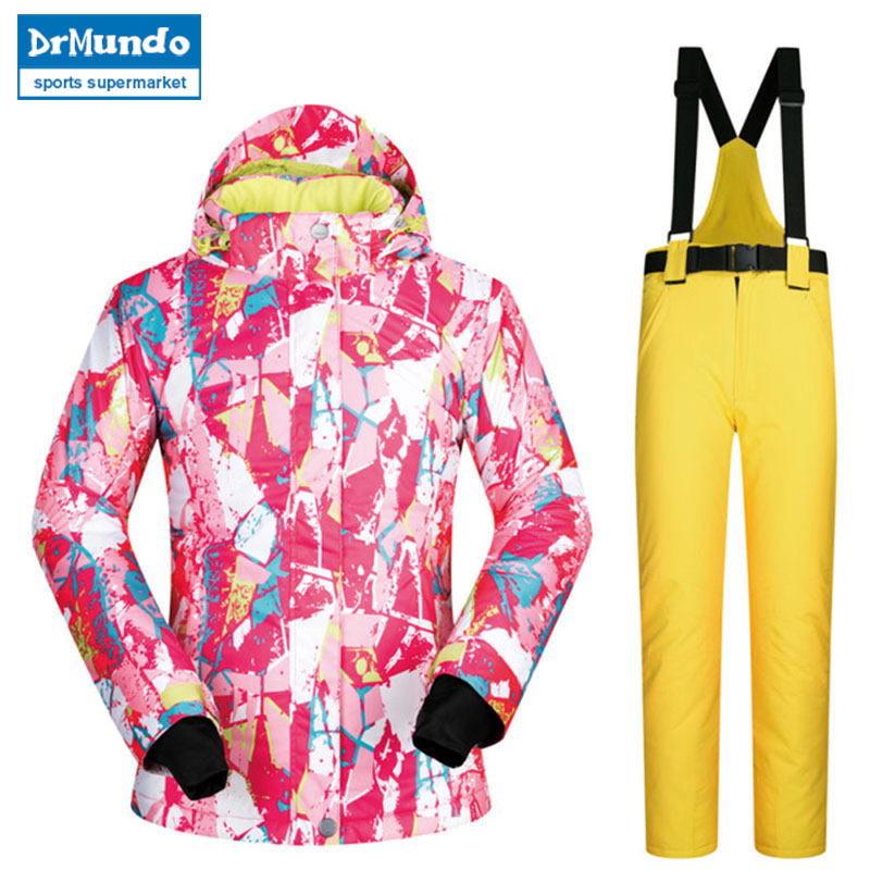 New High Quality Women Brands Ski Suit Female Snowboard Jacket Women And Pants Set Windproof Waterproof Clothes Snow Suit WinterNew High Quality Women Brands Ski Suit Female Snowboard Jacket Women And Pants Set Windproof Waterproof Clothes Snow Suit Winter
