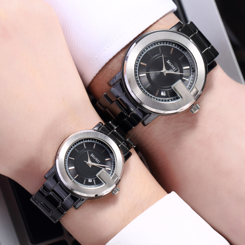 DALISHI Luxury Brand Men Women Couple Watches Quartz lovers Watch Male Dress Watch Fashion Big Dial Date Clock Relogio Feminino gimto big dial gold black skull women watches luxury brand steel male female clock vintage ladies lovers watch relogio feminino