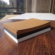 10 Uds en blanco Tarjeta de papel Kraft boceto dibujo tarjetas de regalo marcadores Vintage DIY grafiti pintado Kraft tarjetas postales de papel 14.8x9.8cm