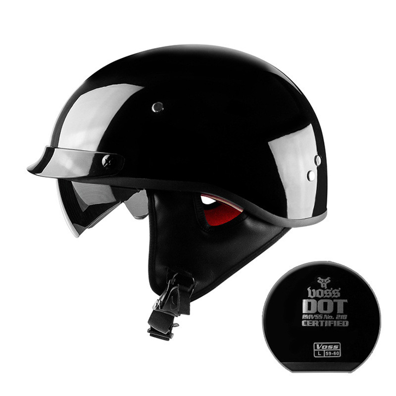 New Arrival Vintage Half Face Motorcycle Helmet Casco Casque Moto Harley Retro Helmets With Inner Sun