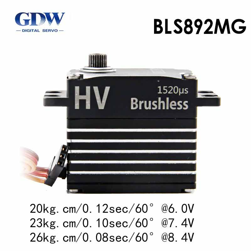Three Piece GDW BLS892 HV Brushless Standard Servos for X7 KDS7 2 SAB700 Helicopter