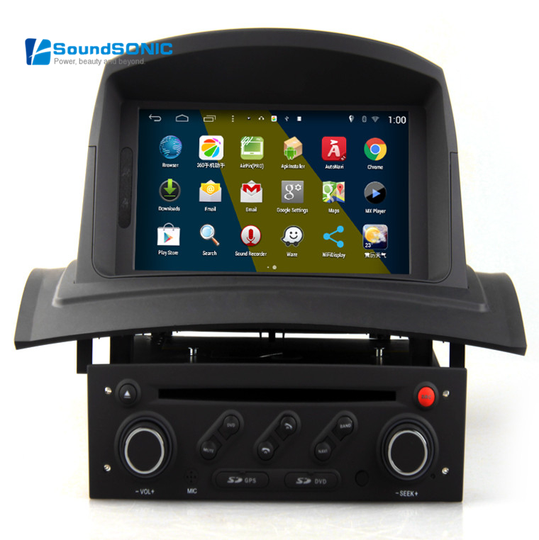 buy android 4 4 4 for renault megane 2 ii fluence touch screen car radio stereo. Black Bedroom Furniture Sets. Home Design Ideas
