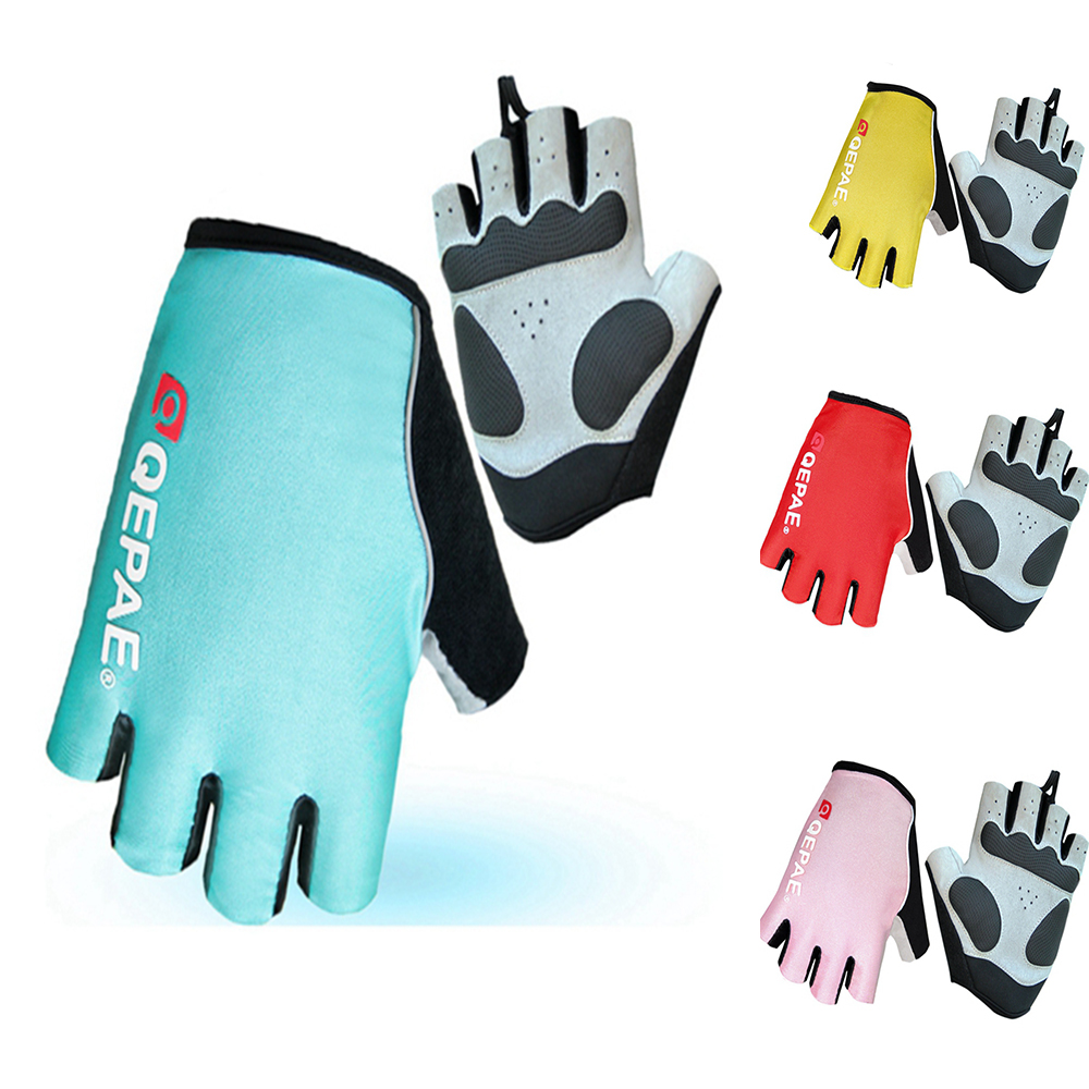 QEPAE Outdoor Full Finger Anti-Slip Gel Cycling Driving Hiking Gloves