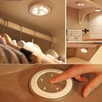 Беспроводной удаленный контроль светодиодный ночник Stick-to-Anywhere Tap Light для кабинета спальня прихожая LB88