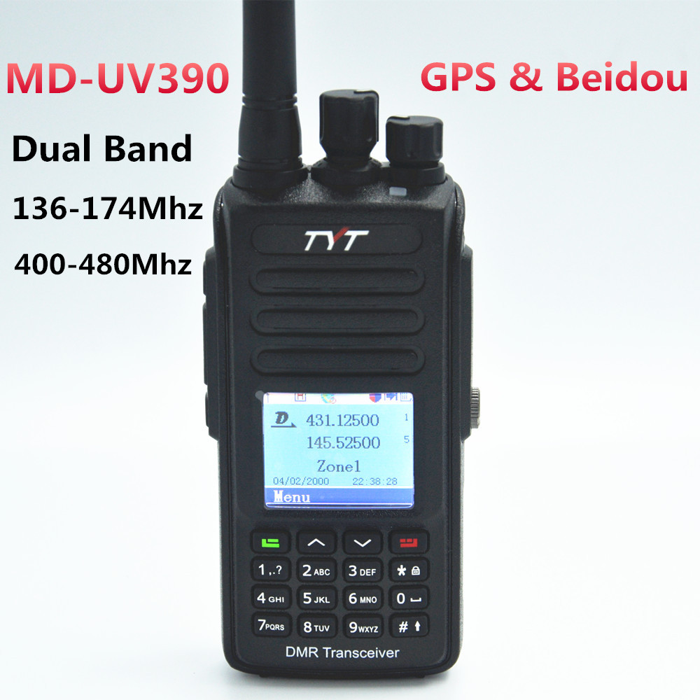 USB Cable Remote Speaker TYT MD-390 IP67 DMR UHF Digital Transceiver 1000CH