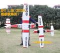 GIGANTE rc 6ch 2.4G EPO entrenador 1.87 m eléctrico rc modelo de avión Cessna 182 RTF con SOLAPAS