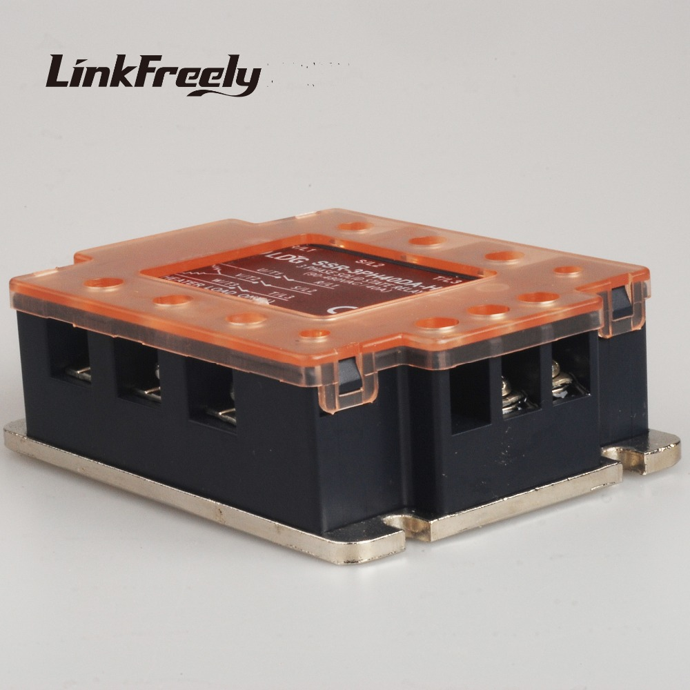 SSR-3PH40DA-H LED Panel Three 3 Phase AC Solid State Relay 40A 380V Output:90-480VAC Input: 4-32V DC Control AC SSR Relay free shipping mager 10pcs lot ssr mgr 1 d4825 25a dc ac us single phase solid state relay 220v ssr dc control ac dc ac