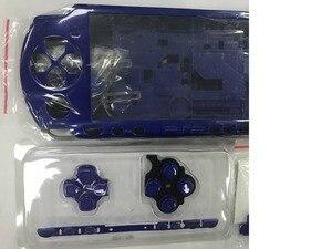 Image 2 - Niebieski kolor dla PSP 2000 PSP2000 wymienny pad do konsoli do gier pełna obudowa obudowa na telefon z zestaw przycisków