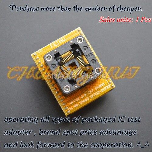 QFP32 to DIP32 programmer adapter  tqfp32 lqfp32 test socket  SA663 programmer adapter