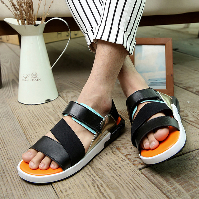 d703c06b543 2016 mens summer beach sandals y3 male breathable sandals slippers shoes  casual male shoes leather beach sandals