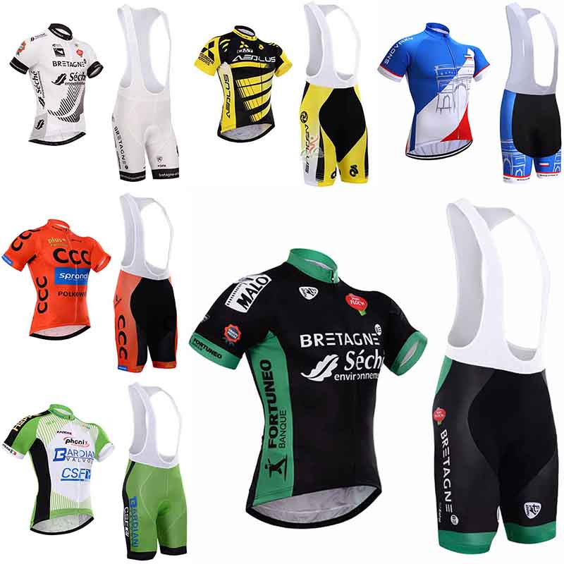 2018 Hot NEW Cycling Jersey Quick Dry bib shorts set High quality 9D Gel pad Cool Design Ropa Ciclismo Mountain bike clothing