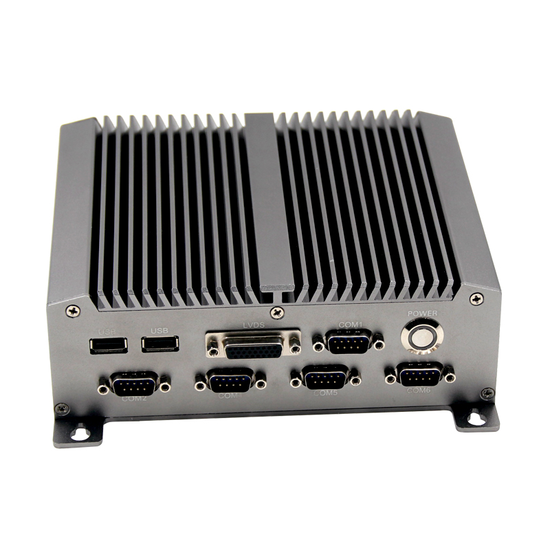 2016 новейший тип N455 безвентиляторный мини-ПК случай промышленного Atom процессор мини-компьютер