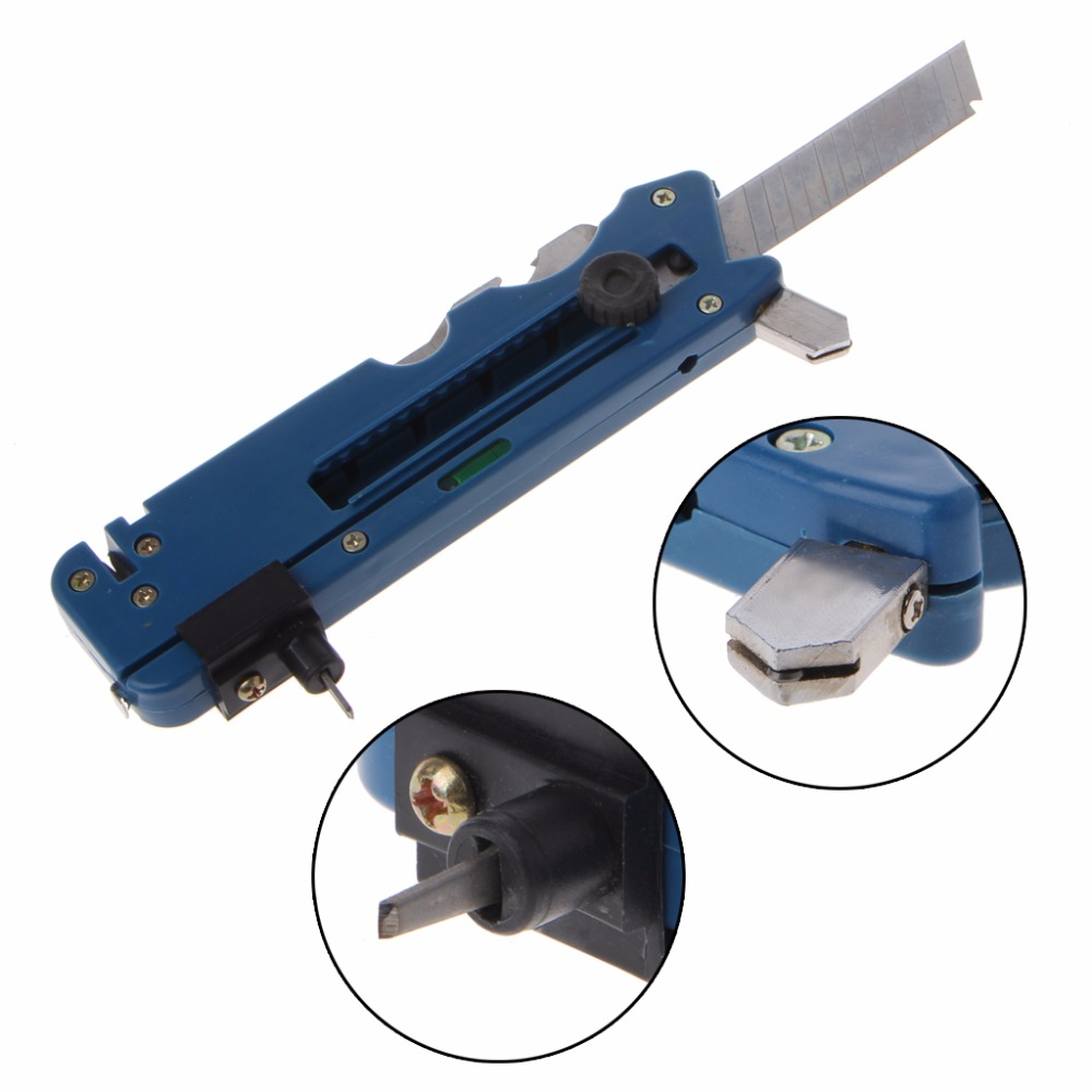2019 New Professiona Glass Cutter Six Wheel Metal Cutting Kit Tool With Measure Ruler Fashion New