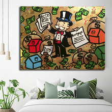 Alec Monopolies Money Man Wallpaper HD Canvas Posters Prints Wall Art Painting Decorative Picture Modern Home Decoration Artwork