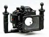 Meikon LX100 Waterproof Underwater Housing Camera Diving Case Cover For panasonic DMC LX100 + Aluminium underwater tray / Grip