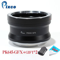Pixco PK645 GFX Lens Adapter Suit for Pentax 645 Lens to Fujifilm G Mount GFX Mirrorless Digital Camera such as GFX 50S
