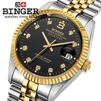 Швейцария Binger часы Для мужчин автоматические механические Для мужчин S часы Элитный бренд наручные часы сапфир водонепроницаемый Reloj Hombre ...