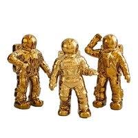 Creative Ceramics Astronaut Statue Modern Style Desktop Crafts Sculpture Home Decoration Ornaments Figurine R277