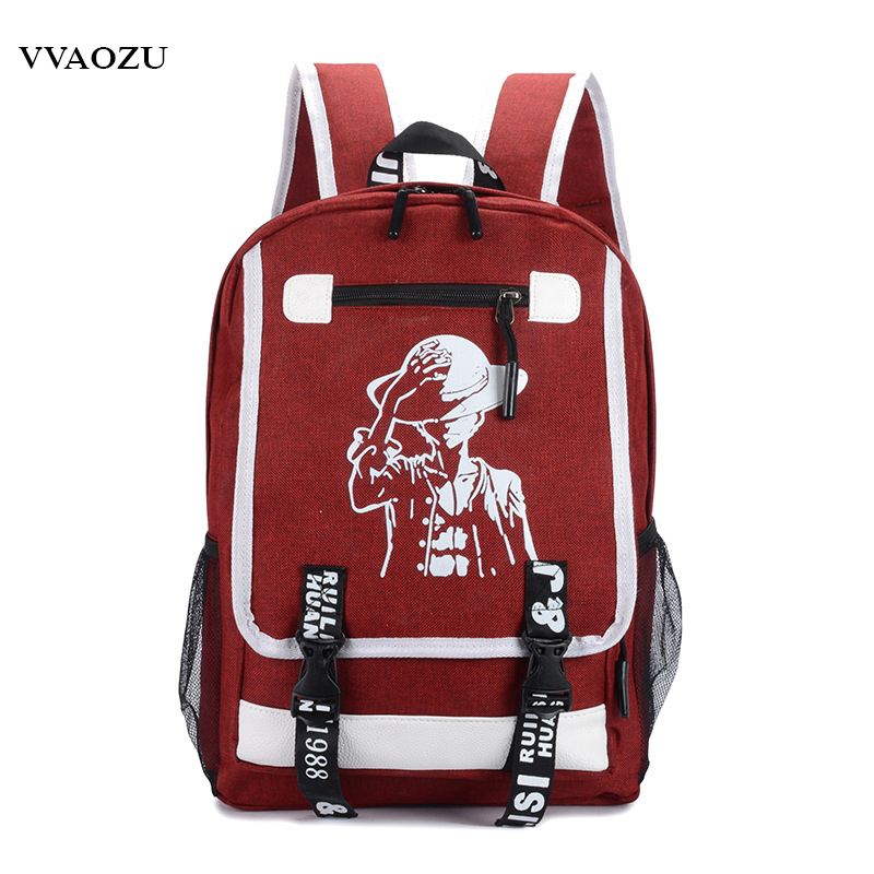 Japan Anime One Piece Luffy Teenagers Backpack Rucksack Harajuku Canvas Student School Bag Bagpack Schoolbag Bookbag