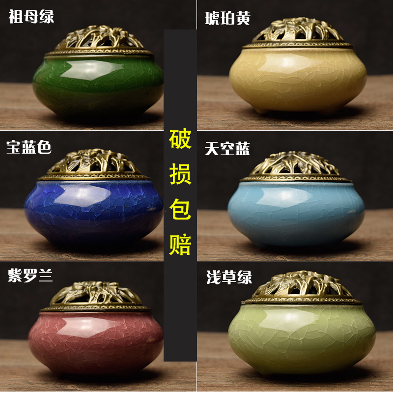ceramic Buddha hand antique alloys aroma stove joss stick incense sandalwood incense coil tower aloes incense burner hong yizhai sandalwood aloes tower incense burner with xiangxiang disc ceramic ornaments fulinmen
