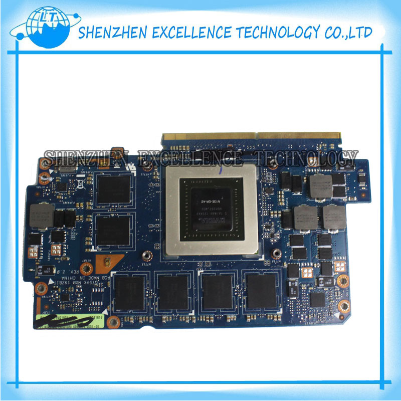 FOR ASUS G75vx Laptop video card VGA Garphic card 192bit REV:1.0 GTX 670M 3G DDR5 n13e-gr-a2 top quality fully tested