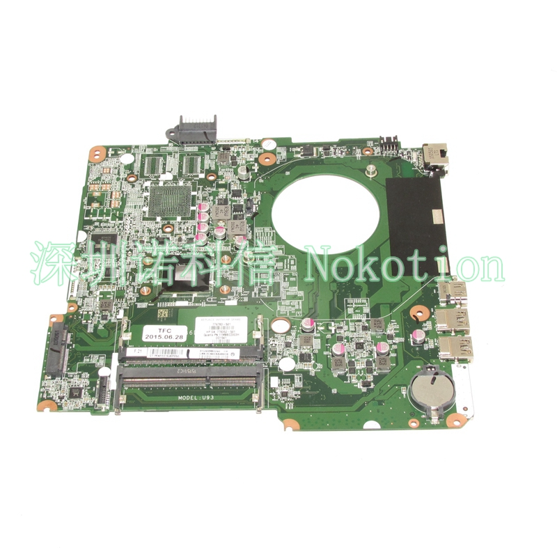NOKOTION DA0U93MB6D2 776783-501 778352-501 776783-001 For laptop motherboard HP Pavilion 15-F Mainboard full test nokotion sps v000198120 for toshiba satellite a500 a505 motherboard intel gm45 ddr2 6050a2323101 mb a01