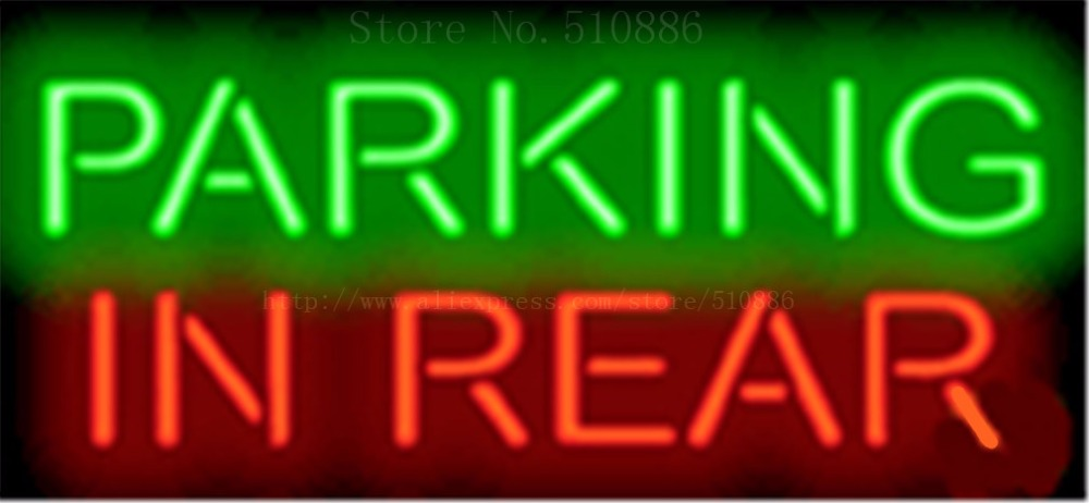 """Parking Repair Car Auto Businese Club Pub <font><b>Glass</b></font> Tube neon sign Handcrafted Automotive signs Shop Store Business signage 17\""""x14\"""""""