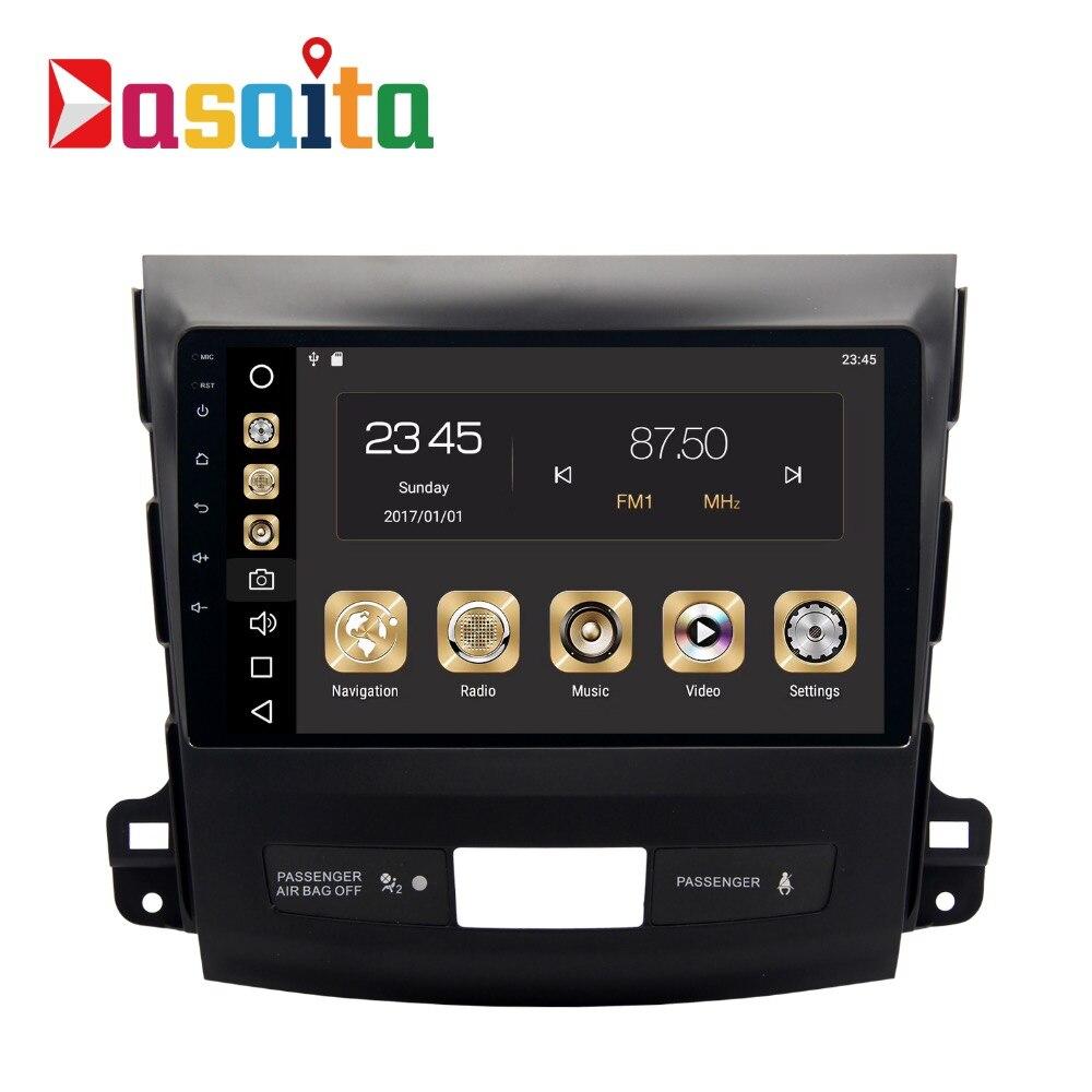 Voiture 2 din GPS pour Mitsubishi Outlander 9 pouce écran radio navigation tête unité multimédia 4 Gb + 32 Gb 64bit Android 8.0 PX5 8-Core