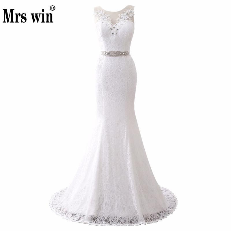 2020 New Lace Mermaid Wedding Dress Elegant Vintage Bridal Wedding Gown Real Photos White Cheap Vestido De Noiva