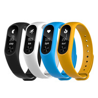 2016 Original M2S OLED Display Heart Rate Monitor Smartband Health Fitness Tracker Fitbit For Android IOS
