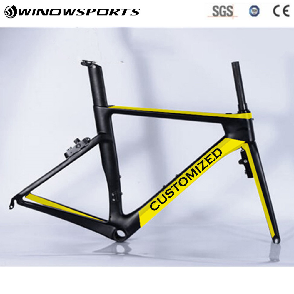 2018 winow Aero Road Carbon Bike Frame, China OEM Full Carbon Aero Frame with Fork,Seatpost,Clamp ,Headset More Color 2018 winow aero road carbon bike frame china oem full carbon aero frame with fork seatpost clamp headset more color