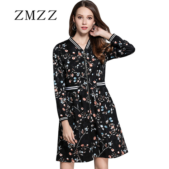 Women Long Sleeve Dresses Plus Size Floral V neck Floral For Autumn Spring  Casual Clothing S - 4XL 5XL Brand New Arriival 0b064556797b
