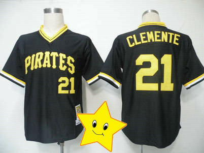 new style 3343c 968f4 US $29.98 |Fast Shipping Pitt tee Roberto Clemente Jersey 21# black cheap  throwback jersey 2013 Baseball jersey wholesale t shirt-in Baseball Jerseys  ...